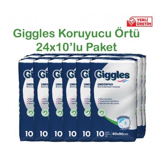 Giggles Yatak Koruyucu Örtü 60x90cm 24x10'lu Paket