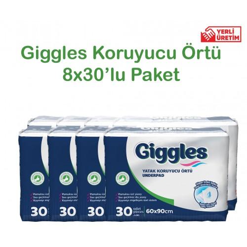 Giggles Yatak Koruyucu Örtü 60x90cm 8x30'lu Paket