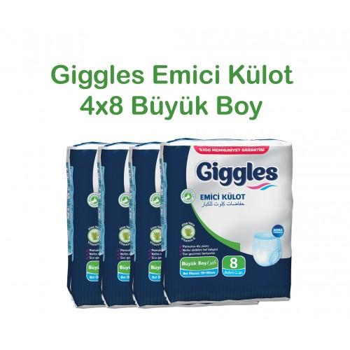 Giggles Yetişkin Emici Külot 95-135 Bel Büyük Boy 4x8'li Paket