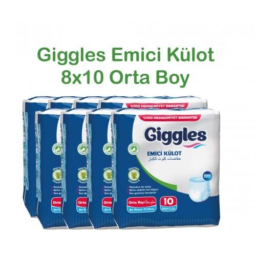 Giggles Yetişkin Emici Külot 70-110 Bel Orta Boy 8x10'lu Paket