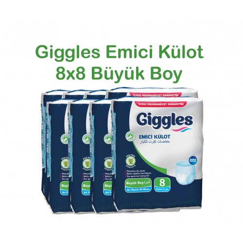 Giggles Yetişkin Emici Külot 95-135 Bel Büyük Boy 8x8'li Paket