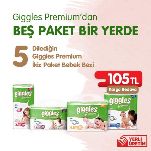 Giggles Premium'dan Beş Paket Bir Yerde