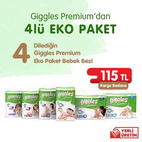 Giggles Premium  4lu Eko Paket Bebek Bezi