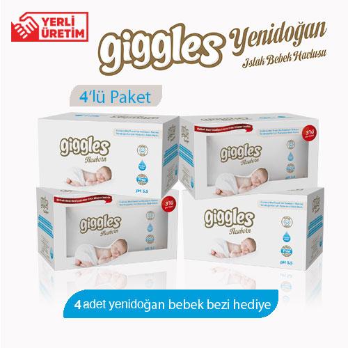 Giggles Yenidoğan 4x3x40'lı 480 Adet Islak Havlu
