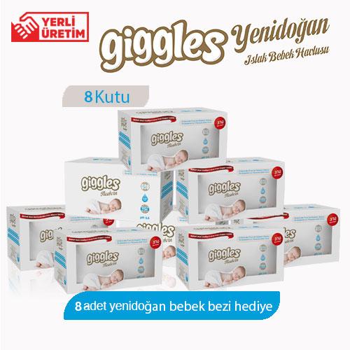 Giggles Yenidoğan 8x3x40'lı 960 Adet Islak Havlu