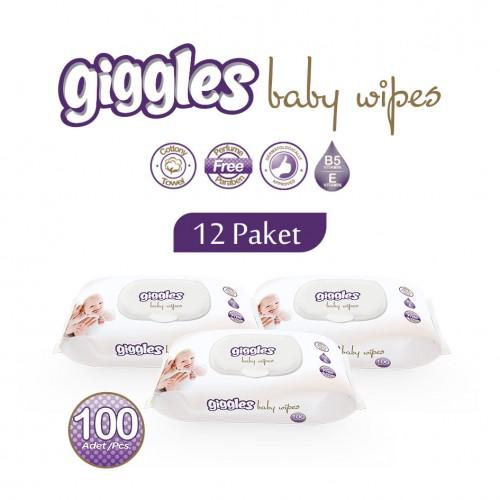 Giggles Islak Havlu 12x100'li Paket