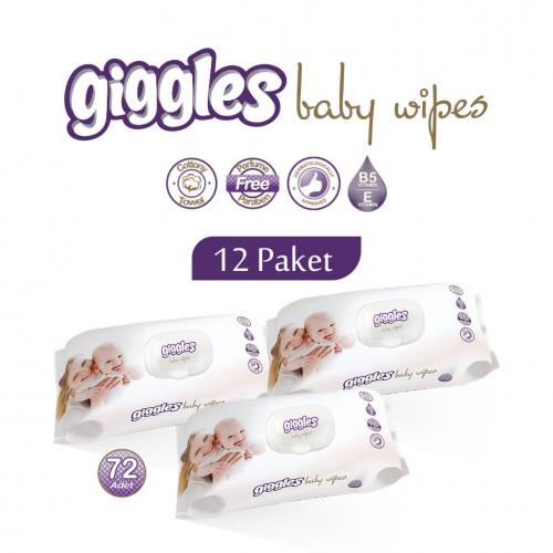 Giggles Islak Havlu 12x72'li Paket