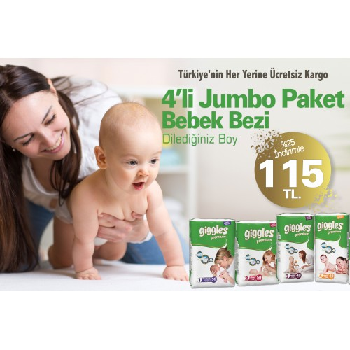 Giggles Premium  Eko Paket Bebek Bezi