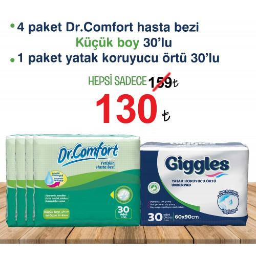 Dr.Comfort Yetişkin Tekstil Yüzlü Bağlamalı Hasta Bezi Küçük , yatak koruyucu örtü