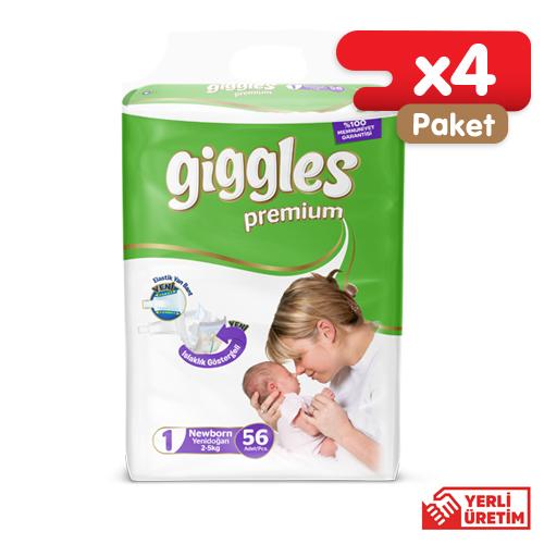 Giggles Premium 1 Numara Yenidoğan Eko (224 Adet)