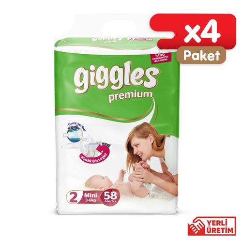 Giggles Premium Eko 2 Numara Mini (232 Adet)