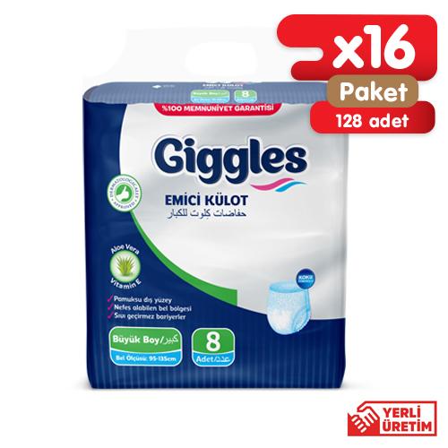Giggles Yetişkin Emici Külot 95-135 Bel Büyük Boy 16x8'li Paket