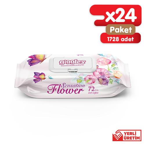 Giggles Flower sensation Islak Havlu 24x72'li Adet