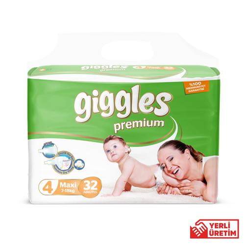 Giggles Premium Bebek Bezi 4 Numara Maxi 32'li İkiz
