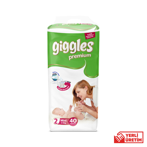 Giggles Premium İkiz 2 Numara Mini (40 Adet)