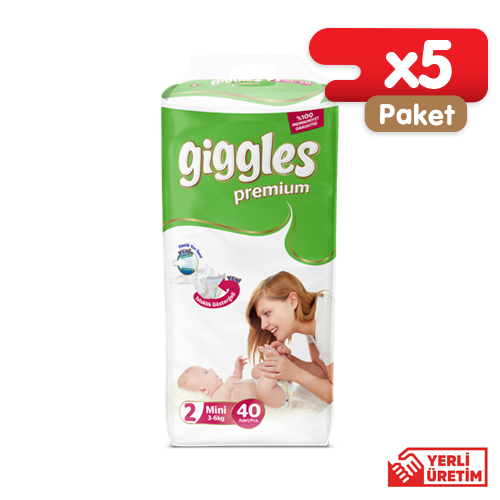 Giggles Premium İkiz 2 Numara Mini (200 Adet)